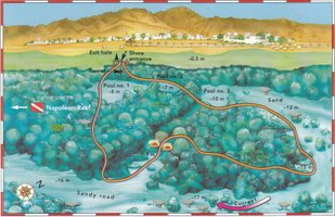 Islands map - Sunsplash Divers Dahab Egypt