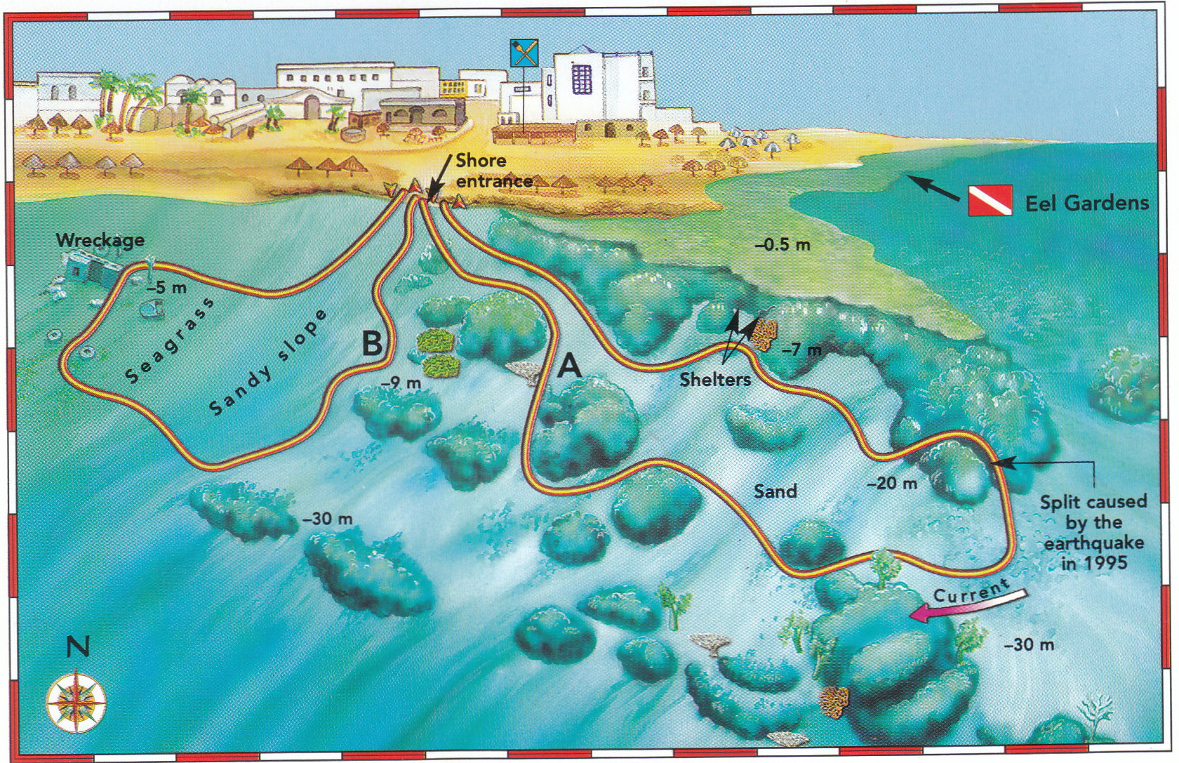 Light house map - Sunsplash Divers Dahab Egypt