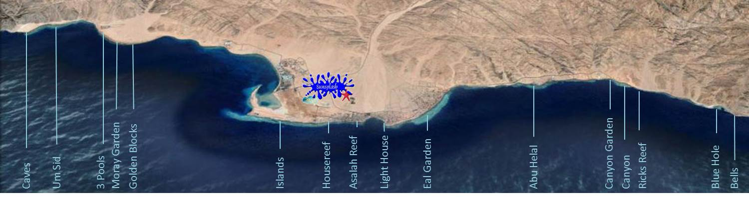 Divesite map - Sunsplash Divers Dahab Egypt